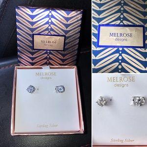 NWT Sterling Silver Cubic Zirconia stud earrings